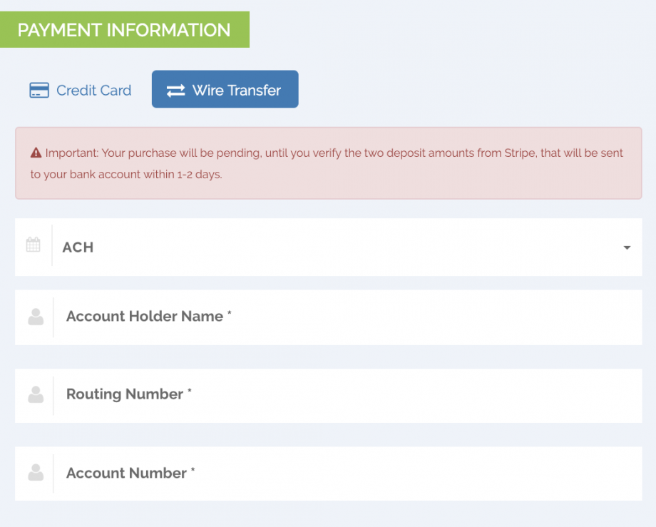 Accepting ACH Wire Transfers - PayKickstart Support Center